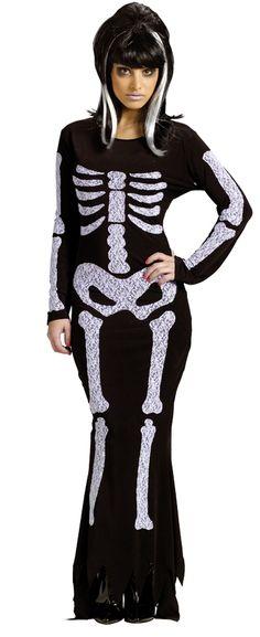 LACE SKELETON DRESS:  www.worldcostume.com $35