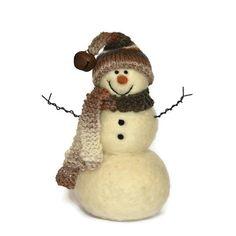 Snowman - Needle Felted wool Snowmen - 223