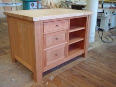 Freestanding Kitchen Island Aid Microwave 24 Best Islands Images Custom Made Craft Table Of With