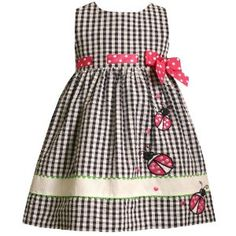 Image detail for -. Seersucker Dress With Ladybug Applique - Prom Dresses - Zimbio Mais Little Girl Outfits, Little Girl Fashion, Little Girl Dresses, Toddler Fashion, Kids Fashion, Toddler Dress, Toddler Outfits, Kids Outfits, Baby Girl Dresses