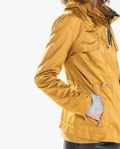 Image 5 of SHORT PARKA WITH WRAPAROUND COLLAR from Zara