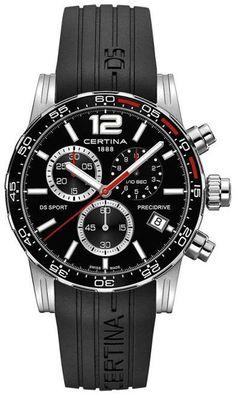 Certina Watch DS Sport Chrono Quartz #bezel-unidirectional…