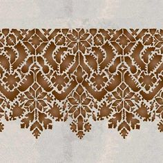 Use this large-scale, Moroccan Lace Stencilborderalone on painted furniture or feature walls. Mix and matchwith our otherMoroccan border stencils for stenci                                                                                                                                                      More