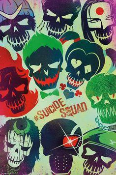Suicide Squad Skulls - Official Poster