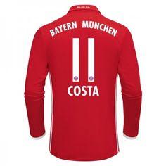 Bayern München 16-17 Douglas #Costa 11 Hemmatröja Långärmad,304,73KR,shirtshopservice@gmail.com