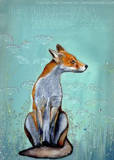 Cool Stuff, Young Fox, Sam Cannon, Fox Spirit, Fox Art, Wildlife Art, Bunt, Fantasy Art, Art Projects