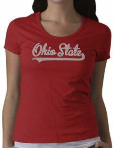 NCAA Women's Ohio State Buckeyes Off Campus Scoop T-Shirt (Red, Medium) '47 Brand. $17.25