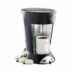 My Cafe Pourover Commercial Grade Coffee/Tea Pod Brewer Stainless Steel Black