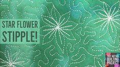 Machine Quilt Star Flower Stipple on a Home Machine and Longarm Quilting Classes, Longarm Quilting, Free Motion Quilting, Quilting Tips, Quilting Tutorials, Quilting Projects, Machine Quilting Patterns, Quilt Patterns, Modern Quilting Designs
