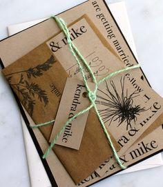 vintage recycled wedding invitations