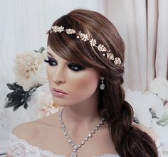 SALE Gold Vine Floral Hair Jewelry Headpiece by EleganceByKate