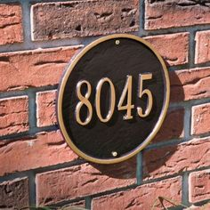 Round Personalized Address Plaque