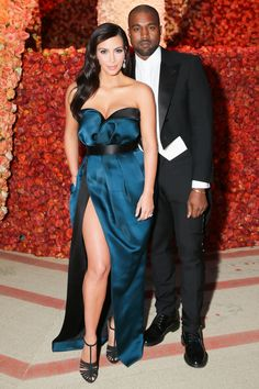 Kim Kardashian and Kanye West   - HarpersBAZAAR.com