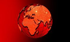 World globe earth with glitter effect. Global communications business concept.Color of the Global communications business concept. stock images Yearbook Pages, World Globes, Technology Background, Glitter, Free Illustrations, Globe Earth, Ultra Violet, Christmas Bulbs, Concept