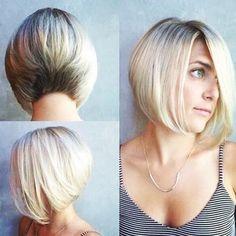 Stacked Bob Hairstyles, Short Bob Haircuts, Straight Hairstyles, 80s Hairstyles, Blonde Haircuts, Simple Hairstyles, Medium Hairstyles, Layered Haircuts, Black Hairstyles