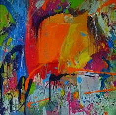 """Abstract Art Painting """"Feeling Melancholy"""" by T. Einer"""
