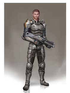 [ Dragon Age / Mass Effect - Soldier Alistair ]  Excuse me while I pick my jaw off the floor! Then I'd have to pick between him and Kaidan.. Hmm.. Only if he's in armor.