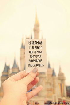 Home - Mejores Frases Disney Love, Walt Disney, Disney Magic, Disney Parks, More Than Words, Spanish Quotes, Disney Trips, Wise Words, Favorite Quotes