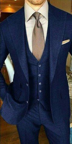 The Blue Suit Collection - Men Suits Best Suits For Men, Cool Suits, Mens Fashion Suits, Mens Suits, Male Clothes, Costume Original, Terno Slim, Moda Formal, Designer Suits For Men