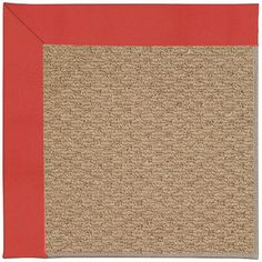 Capel Zoe Machine Tufted Sunset Red/Brown Area Rug Rug Size: Square 8'