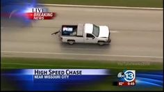 Texas High Speed Police Chase Armed Robbery Suspect In Houston (KTRK)