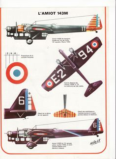 avion l'amiot 143M.1 :: A late 1930s French medium bomber designed to meet 1928…