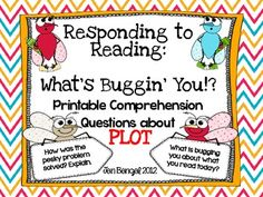Comprehension Question Cards for Plot with CCSS!!