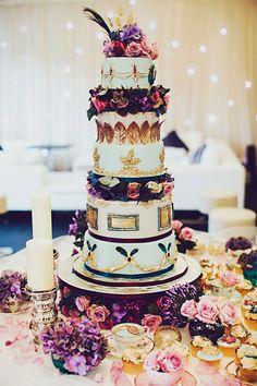 Opulent wedding cake!