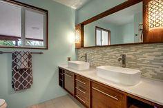 Love the floating vanity, not the toilet + vanity combo.