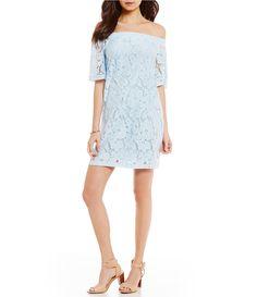 Donna Morgan Floral Lace OfftheShoulder Shift Dress #Dillards