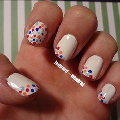 Easy DIY Spring Nail Art: whimsical polka dots