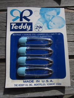 Diaper Pins It's a Boy Blue