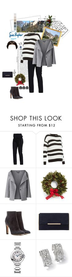 """""""Untitled #2399"""" by duchessq ❤ liked on Polyvore featuring Ryder, Bellybutton, New Look, Burberry, Gianvito Rossi, Dune and Cartier"""