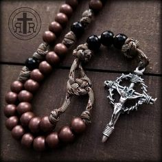 Rosary Beads for Sale, Men's Rosaries, Strong Rosaries, Military Rosary Rugged Rosaries® Rosary Bead Tattoo, Rosary Beads, Rosary Catholic, Catholic Gifts, Paracord Rosary, 550 Paracord, Beads For Sale, Metal Working Tools, Crown Of Thorns