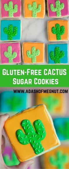 Gluten-Free Cactus Sugar Cookies - VIDEO tutorial and recipe