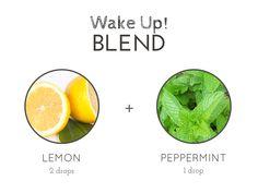 アロマオイル。 レモンとペパーミントのブレンド