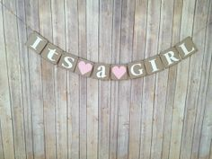 Its A GIRL Banner-Choose your Color-Baby Shower-Gender Announcement-Nursery Decor-Gender Announcement Photo Prop on Etsy, $18.00