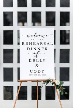 Large Calligraphy Rehearsal Dinner Template Sign Rehearsal Dinner Sign Welcome Wedding Sign Wedding Rehearsal Sign Decorations Printable - Bridal shower - Rehearsal Dinner Decorations, Rehearsal Dinners, Wedding Signs, Wedding Reception, Reception Dresses, Wedding Ideas, Trendy Wedding, Rehearsal Dinner Wedding, Ideas For Rehearsal Dinner