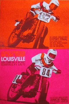 Vintage flat track racer poster