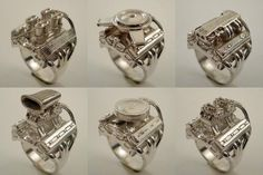 We found these rings at Cruzinworld.com, and they had far too many for us to post them all here. If you're a fan of Holley or Edelbrock carburetors, single or multiple carburetion, or even fuelies, they have quite a selection.
