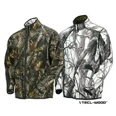 #New #TECLWOODCamo TECL-WOOD Functional Reversible Soft Shell Camo Hunting Jacket