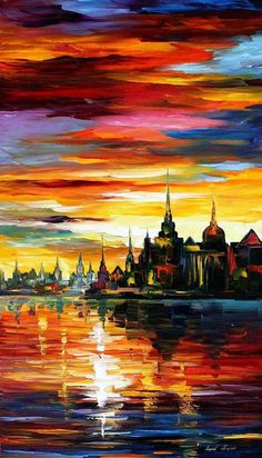 """I Saw A Dream 2 — PALETTE KNIFE Oil Painting On Canvas By Leonid Afremov - Size: 20"""" x 36"""" (50cm x 90cm)"""