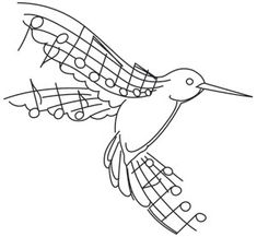 Beautiful Music - Hummingbird | Urban Threads: Unique and Awesome Embroidery Designs