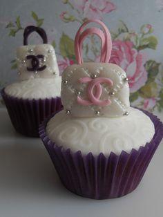 Chanel handbag cupcakes