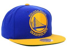 Golden State Warriors Mitchell and Ness NBA XL Logo Snapback Cap Hats