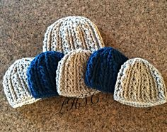 Double helix infant beanies