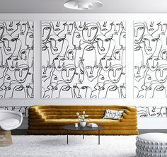 WALLPAPER : FEMME©️️ // BLACK + WHITE - drop it MODERN - Modern and contemporary interior designed wallpaper for the studio and home. | #wallpaper #InteriorDesign #HomeDecor #bedroom #bathroom #kitchen #LivingRoom #designer #luxury #traditional #FarmHouse #MidCenturyModern #traditionalkitchens