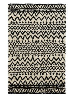 Dwell C Hand-Woven Rug from Black