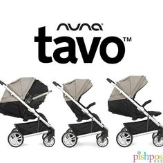 Introducing the new Nuna TAVO stroller! Designed to provide tons of room for both baby (from both head-to-toe and side-to-side!) and you (HUGE basket), all while cleverly connecting to the Nuna PIPA infant car seat with one-click—no adapters needed. Yep, TAVO truly is a one-click traveling wonder.   http://www.pishposhbaby.com/nuna-tavo.html