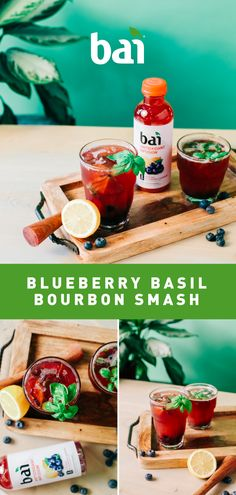 Every sip of this beautiful bourbon cocktail is a smashing success. Featuring Burundi Blueberry Lemonade, a tropical refreshment with only 5 calories, 1 gram of sugar and no artificial sweeteners. Please drink responsibly. Low Carb Cocktails, Bourbon Cocktails, Cocktail Drinks, Alcoholic Drinks, Beverages, Fancy Drinks, Yummy Drinks, Cold Drinks, Bourbon Smash